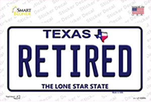 Retired Texas Wholesale Novelty Sticker Decal