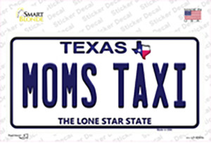Moms Taxi Texas Wholesale Novelty Sticker Decal