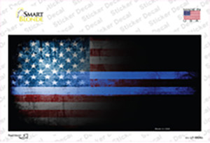 American Flag Police Wholesale Novelty Sticker Decal