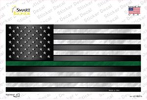 American Flag Thin Green Line Wholesale Novelty Sticker Decal