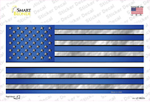 Blue American Flag Thin White Line Wholesale Novelty Sticker Decal