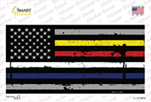 American Flag Police / Fire / EMS Wholesale Novelty Sticker Decal