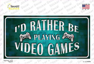 Rather Play Video Games Wholesale Novelty Sticker Decal