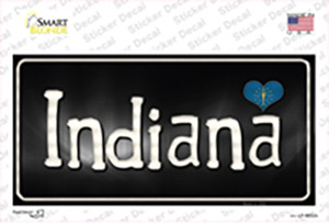 Indiana Flag Script Wholesale Novelty Sticker Decal