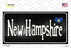 New Hampshire Flag Script Wholesale Novelty Sticker Decal