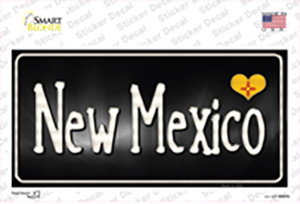 New Mexico Flag Script Wholesale Novelty Sticker Decal