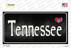 Tennessee Flag Script Wholesale Novelty Sticker Decal
