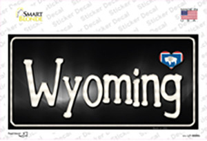 Wyoming Flag Script Wholesale Novelty Sticker Decal
