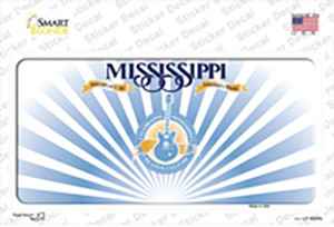 Mississippi Rusty Background Wholesale Novelty Sticker Decal
