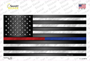 American Flag Police / Fire Wholesale Novelty Sticker Decal