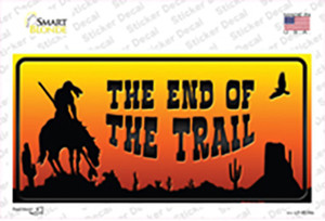 End Of Trail Scenic Wholesale Novelty Sticker Decal