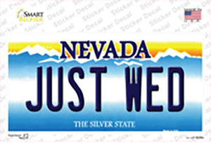Just Wed Nevada Wholesale Novelty Sticker Decal
