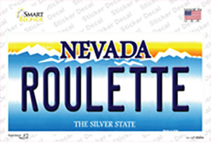 Roulette Nevada Wholesale Novelty Sticker Decal