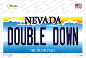 Double Down Nevada Wholesale Novelty Sticker Decal
