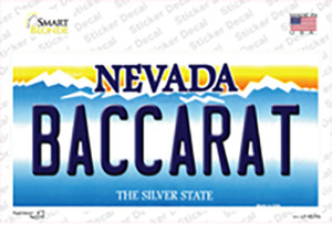 Baccarat Nevada Wholesale Novelty Sticker Decal