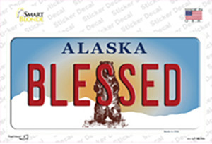 Blessed Alaska State Wholesale Novelty Sticker Decal