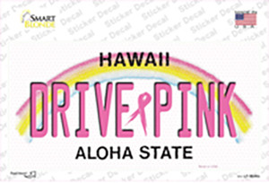 Drive Pink Hawaii Wholesale Novelty Sticker Decal