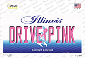 Drive Pink Illinois Wholesale Novelty Sticker Decal