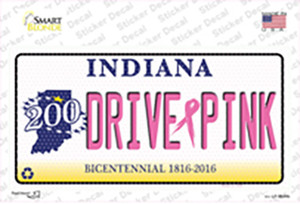 Drive Pink Indiana Wholesale Novelty Sticker Decal