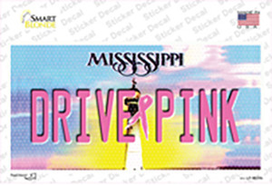 Drive Pink Mississippi Wholesale Novelty Sticker Decal