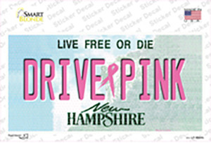 Drive Pink New Hampshire Wholesale Novelty Sticker Decal