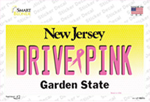 Drive Pink New Jersey Wholesale Novelty Sticker Decal