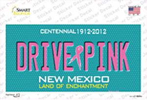 Drive Pink New Mexico Wholesale Novelty Sticker Decal