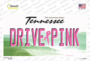 Drive Pink Tennessee Wholesale Novelty Sticker Decal