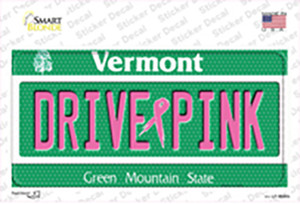 Drive Pink Vermont Wholesale Novelty Sticker Decal