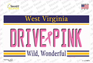 Drive Pink West Virginia Wholesale Novelty Sticker Decal
