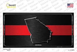Georgia Thin Red Line Wholesale Novelty Sticker Decal