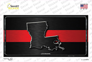 Louisiana Thin Red Line Wholesale Novelty Sticker Decal