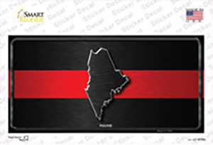 Maine Thin Red Line Wholesale Novelty Sticker Decal