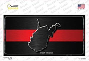 West Virginia Thin Red Line Wholesale Novelty Sticker Decal