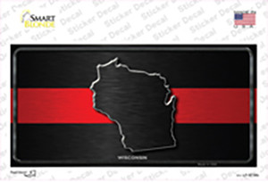 Wisconsin Thin Red Line Wholesale Novelty Sticker Decal