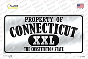 Property Of Connecticut Wholesale Novelty Sticker Decal