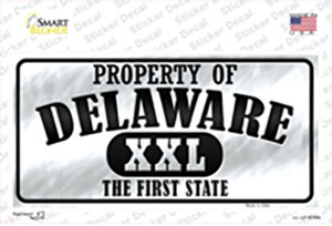 Property Of Delaware Wholesale Novelty Sticker Decal