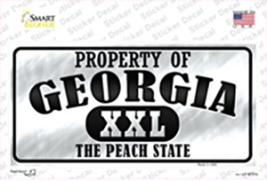 Property Of Georgia Wholesale Novelty Sticker Decal