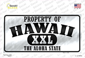 Property Of Hawaii Wholesale Novelty Sticker Decal