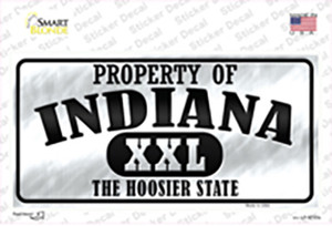 Property Of Indiana Wholesale Novelty Sticker Decal
