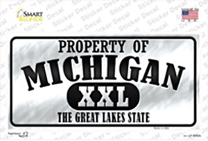 Property Of Michigan Wholesale Novelty Sticker Decal
