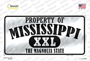 Property Of Mississippi Wholesale Novelty Sticker Decal