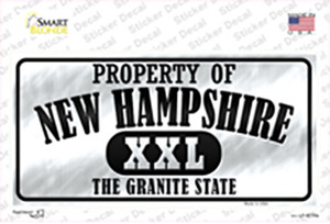 Property Of New Hampshire Wholesale Novelty Sticker Decal