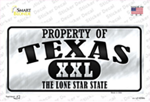 Property Of Texas Wholesale Novelty Sticker Decal