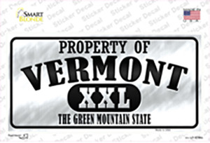 Property Of Vermont Wholesale Novelty Sticker Decal