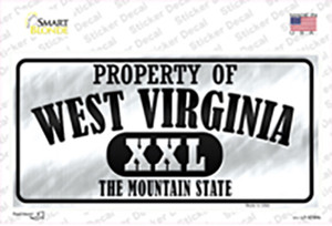 Property Of West Virginia Wholesale Novelty Sticker Decal