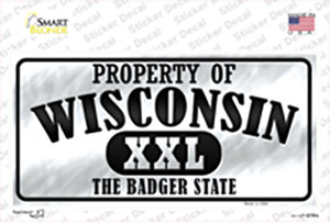 Property Of Wisconsin Wholesale Novelty Sticker Decal