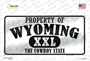 Property Of Wyoming Wholesale Novelty Sticker Decal