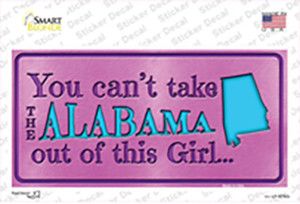 Alabama Outta This Girl Wholesale Novelty Sticker Decal