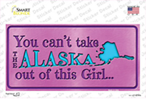 Alaska Outta This Girl Wholesale Novelty Sticker Decal